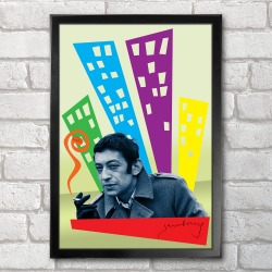 ba0161 Poster Serge Gainsbourg