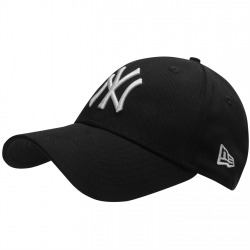 Cap NY Black/White - Curved Peak