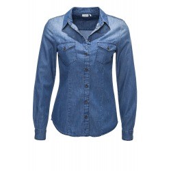 Womens Blouse Calla Blue