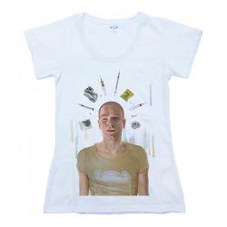 Womens White Tshirt TRAINSPOTTING - RENTON