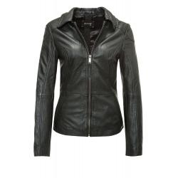 Womens Leather Jacket Claudia Black
