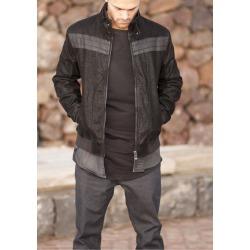 Mens Leatherette Jacket Jack Black