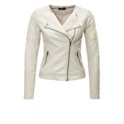 Womens Leatherette Jacket Helen Light Grey
