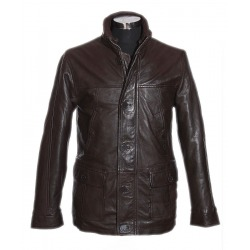 Men´s Leather Coat Gerrard Brown
