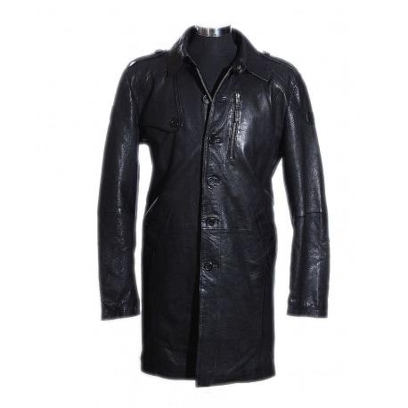 eb8b104ba Pánsky Kožený Kabát Vincent Čierny - Babylonia