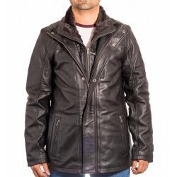 Men´s Leather Coat Magnus Black