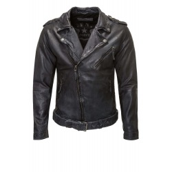 Men´s Leather Jacket Bertrand Black