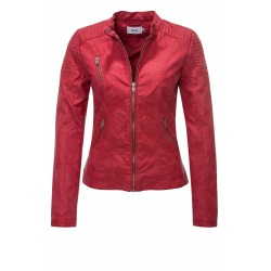 Womens Leatherette Jacket Anika Red
