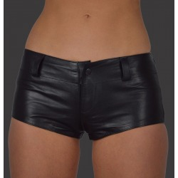Womens Leather Shorts Livia Black