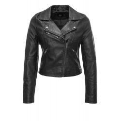 Womens Leatherette Jacket Isolde Black