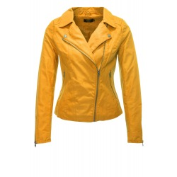 Womens Leatherette Jacket Yellow