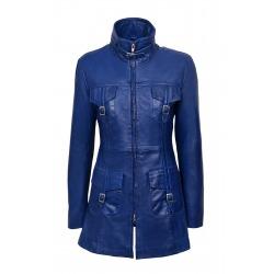 Womens Leather Jacket Lucretia Blue