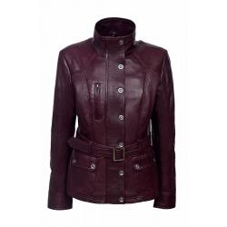 Womens Leather Jacket Pandora Bordeaux