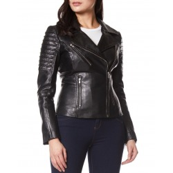 Womens Leather Jacket Alexandra Black