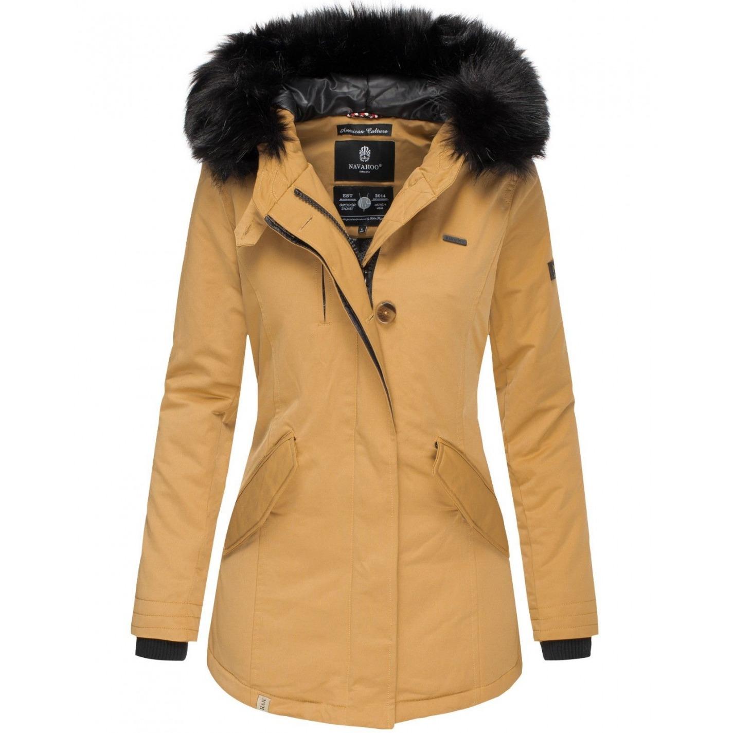 0008cb20038d Dámska Zimná Bunda Kristina Camel. Skutočne noblesný a atraktívny dámsky  zimný kabát ...