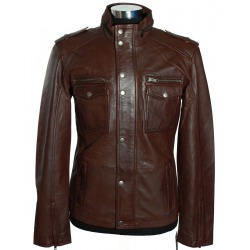 Men´s Leather Jacket Alexander Brown