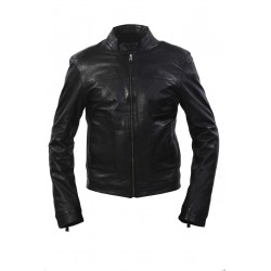 Mens Leather Jacket Neal Black