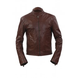 Mens Leather Jacket Neal Brown