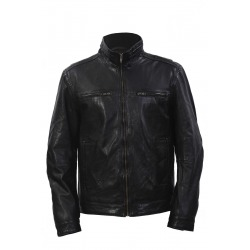 Men´s Leather Jacket Blake Black