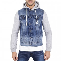 Men´s Denim Hoody Ted Blue