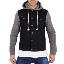 Men´s Denim Hoody Ted Black