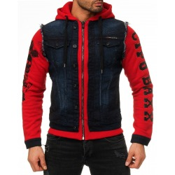 Men´s Denim Hoody Raw Red