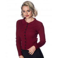 Womens Cardigan Elle Burgundy