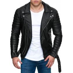 Mens Leatherette Jacket Mauritius Black