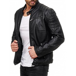 Men´s Leatherette Jacket Brendan Black