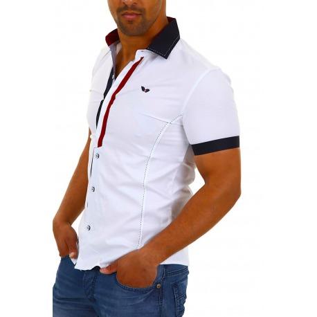 Mens Short Sleeved Shirt Ethan White