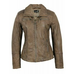 Womens Leather Jacket Stela Brown