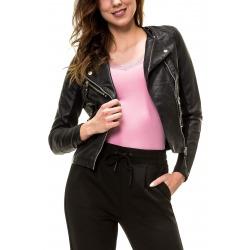 Womens Leatherette Jacket Black