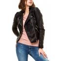 Womens Leatherette Jacket Valentine Black