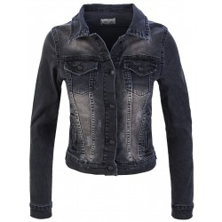 Womens Denim Jacket Nadia Anthrazit