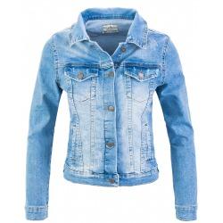 Womens Denim Jacket Nadia Shinny Blue