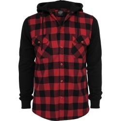 Mens Red Hooded Shirt Loui