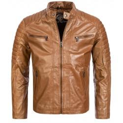 Men´s Leather Jacket Orlando Light Brown
