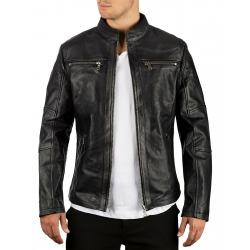 Men´s Leather Jacket Simeon Black