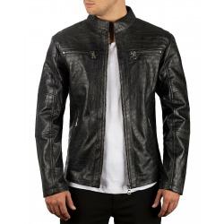 Men´s Leather Jacket Dion Black