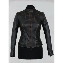 Womens Leather Jacket Evangeline Black