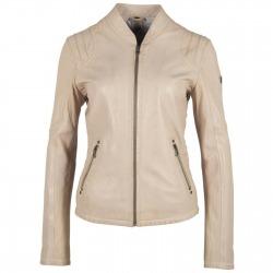 Womens Leather Jacket Nadja Beige