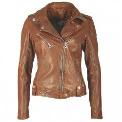 Womens Leather Jacket Saskia Brown