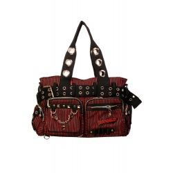 Womens Red/Black Shoulder Bag Kiera