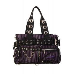 Womens Purple/Black Shoulder Bag Kiera