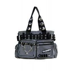 Womens Black/White Shoulder Bag Kiera