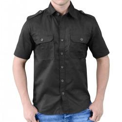 Mens Black Shirt Breton