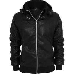 Mens Leatherette Jacket Liam Black