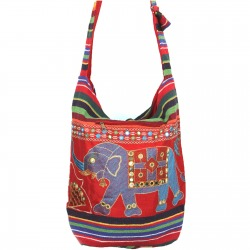 Womens Canvas Shoulder Bag Red Kimi