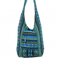 Womens Canvas Shoulder Bag Blue Dyani