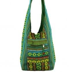 Womens Canvas Shoulder Bag Green Dyani